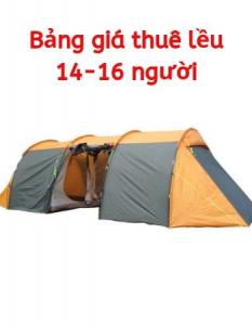 Thuê lều cắm trại cho 14 – 16 người