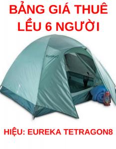 Cho thuê lều cắm trại cho 6 người